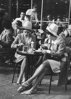 "historiful: "" Two women in Paris, France, c. 1960 """