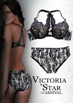 Mod 21816-71816 sexy lingerie Victoria´Star by Carnival Bra-bikini con detalles en encaje