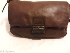 Coletta Leather Purse Shoulder Bag Brown Handbag
