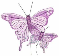 Pastel Lavender Sheer Iridescent Glitter Artificial Butterflies in 2 Assorted Sizes - Package of 12 Inspired by Nature http://www.amazon.com/dp/B004LY02O0/ref=cm_sw_r_pi_dp_TQ7Ywb1A6CTC9