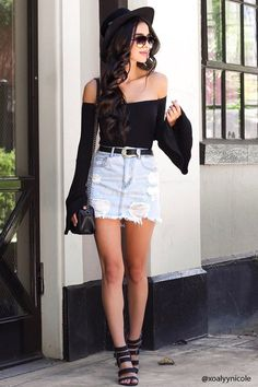 Product Name:Frayed Hem Denim Mini Skirt, Category:CLEARANCE_ZERO, Price:17.9