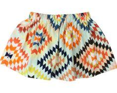 Tribal Toddler Skirt Baby Skirt Little Girl Skirt Winter Skirt Jersey Knit Skirt Colorful Tribal Skirt Baby Baby Leggings Handmade Skirt