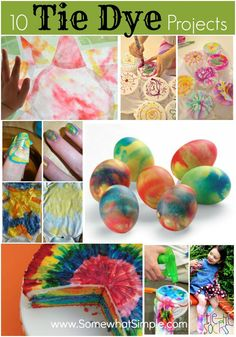 10 Tie Dye Projects - lots of fun crafts for kids!