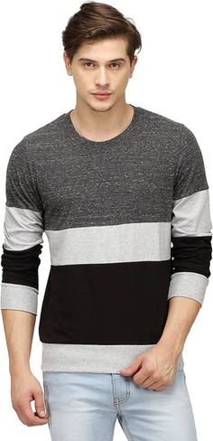 Campus Sutra Striped Men's Round Neck Multicolor T-Shirt Price Rs 467 Only