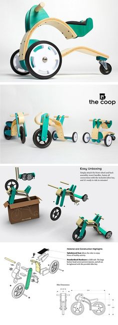 Nice idea for wooden motobike! New Electronic Gadgets, Electronic Gifts, Woodworking Jigs, Woodworking Projects, Building A Workbench, Custom Pc, Cool Electronics, Kids Bike, Tech Gifts