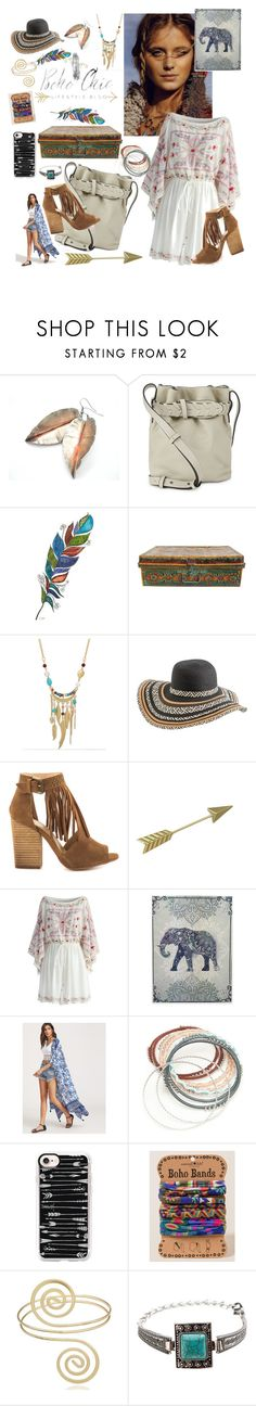 """Boho chick"" by ericjen8685 ❤ liked on Polyvore featuring French Connection, WithChic, Rip Curl, Chinese Laundry, Chicwish, Red Camel, Casetify, Francesca's and Q&Q"