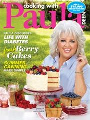 Cooking With Paula Deen Magazine Fresh Berry Cakes Summer Canning Diabetes 2012 Food Network Recipes, Cooking Recipes, Cooking Tips, Berry Cake, Tasty Pancakes, Paula Deen, How To Make Cake, Food And Drink, Dean