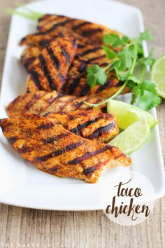 This Taco Chicken is easy and flavorful and perfect for tacos, burritos, nachos.
