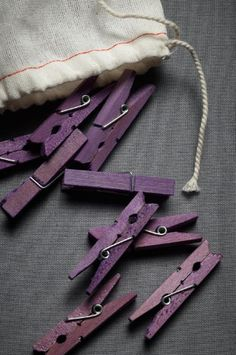 I bet it is easy enough to dye clothespins....to hang my laundry with on warm summer days