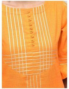 gota patti kurta with palazzo set #gota #patti #suits #pakistani #yellow Buy Gota Patti Kurta With Palazzo Set for Women from Zoeyam's for ₹1260 at 43% off | 2019 Limeroad.com Salwar Neck Designs, Kurta Neck Design, Neck Designs For Suits, Back Neck Designs, Kurta Designs Women, Dress Neck Designs, Designs For Dresses, Sleeve Designs, Blouse Designs