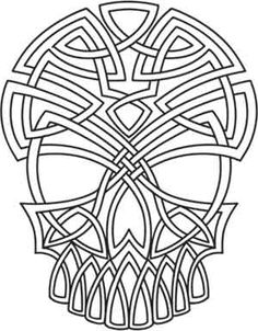 Celtic Skull | Urban Threads: Unique and Awesome Embroidery Designs
