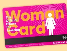 "Donny Boy is surely regretting he ever accused Hillary of ""playing the woman card"". I received this email from her campaign earlier today:      Eric --  Donald Trump has been saying the ""woman's card"" is all Hillary has going for her -- I just..."