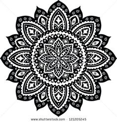 Black Indian ornament mandala