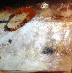 """Graffiti Roma III"" Oil Cold Wax Lisa B. Boardwine"