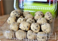 Since everyone gets so many treats at Christmas, these can be made whenever...// Frozen Cookie Dough as gifts for Christmas!!