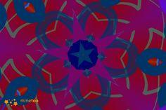 green star on blue.  #kaleidoscope  #Moiety # minetoo app