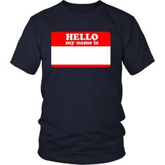 Hello My Name Is Sticker Shirt Write On Me Blank Color Set 1