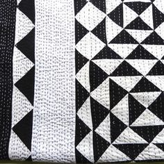Sally Campbell, Handmade Textiles - Black and white quilt