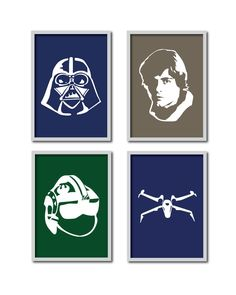 Mix 'n Match 8x10s Any 4 Star Wars Silhouette by DesignCreatives