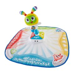 This interactive play mat is where the action and learning fun is! As little ones move and dance on this mat, they're rewarded with bright, colorful lights & fun sounds, songs, music & phrases. It even teaches ABCs, numbers, colors, shapes and dance moves. There are 2 ways to play! In Move & Play mode, batting at the BeatBo character or pressing any of the 4 light-up buttons on the base sets the learning fun into motion and triggers the interactive light show all around ...