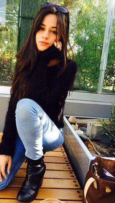 Black furry sweater <3