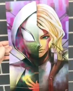 RATE THIS OUT OF 10 ! Rate this printed artwork of Marvel Spiderman into the Spiderverse out of Marvel Avengers, Memes Marvel, Marvel Fan, Marvel Dc Comics, All Spiderman, Art Manga, Marvel Wallpaper, Spider Verse, Marvel Characters