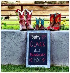 Below are some super simple, super fun pregnancy announcement ideas. We hope they get your creative pregnancy announcement juices flowing! Country Baby Announcement, Creative Pregnancy Announcement, Pregnancy Announcements, Country Maternity, Expecting Photos, Professional Bull Riders, Newborn Pictures, Maternity Pictures, Pregnancy Pictures