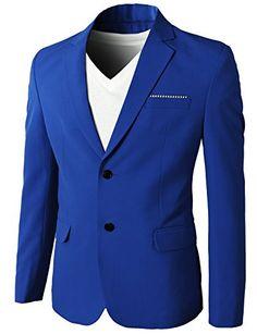 H2H Mens Casual Slim fit Premium Single Breasted Spandex Blazer – VIP Gentleman