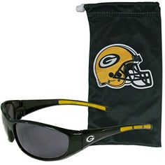 55be130ef4b NFL Green Bay Packers Adult Sunglass and Bag Set Green     Click on the