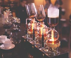 Siphons are a common sight in Tokyo cafes. Intelligentsia in Chicago uses them too. #coffee