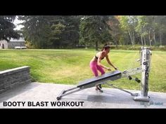 Glute Specific Exercises - Total Gym Pulse Tone your tush with this intense circuit workout for the Total Gym. Add in these no-equipment-needed workouts for fast results! Sweat Workout, Butt Workout, House Workout, Total Gym Workouts, At Home Workouts, Home Gym Equipment, No Equipment Workout, Gym Trainer, Workout Machines