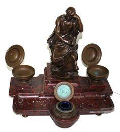 Hahnemann,S. Bronzeskulptur von F. Barbedienne. Giesserstempel A.Collas Reduction Mecanique. 750eu