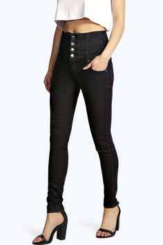 Sandy Super High Wasited Super Skinny Jeans - High Waisted Jeans - Jeans - Clothing