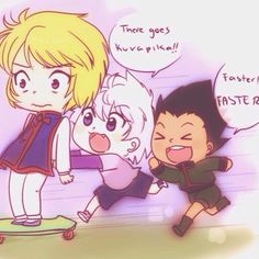 I think a part of me just cried omfg kurapika, killua and gon hunter x hunter
