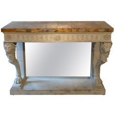 1stdibs | A Neo-classical Italian Console Table With Lions Heads