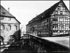 Fleischbrücke in Nürnberg um 1936.