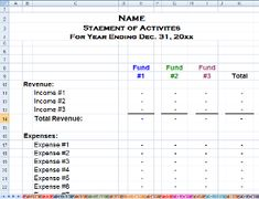 church financial statements template