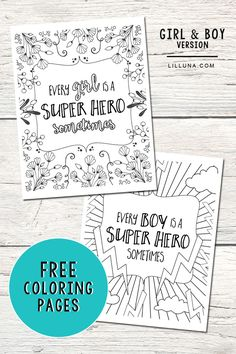 FREE Super Hero Coloring Pages. Get the free download at lilluna.com #SharetheSuper @DelMontebrand