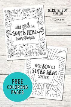 FREE Super Hero Colo