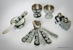 Coquetiers - Art de la table sur Vlam fimo, création d'objets en pâte fimo, bijoux, décoration, arts de la table