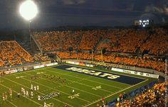 Montana State University boasts an impressive outdoor stadium. Home of the Bobcats!