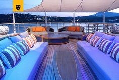 The most customized Amels Limited Editions to date, ENGELBERG has been designed to perfectly meet her Owner's needs. Advanced personal communications systems, a unique aft deck layout, and a charcoal grey hull with a hint of orange make this yacht a true original. She features a stunning interior design by Enzo Enea, who blended the Mediterranean environment into the yacht's interior décor. Engelberg, Communication System, Interior Decorating, Interior Design, Outdoor Furniture, Outdoor Decor, Charcoal, Environment, Layout