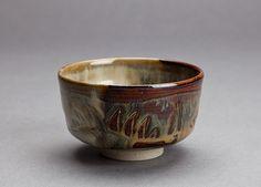 "Miraku Kamei XV, XV8, Tea bowl (chawan), old Takatori style, Stoneware, 2.75 x 5 x 4.75"""