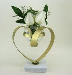 50th Anniversary Heart Centerpiece Decoration for 50th Wedding Anniversary Party