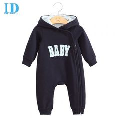 Baby & Children Romper,Cute Hooded Jumpsuit,Cotton Baby Clouth.Deep Blue one。