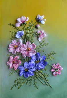 "Gallery.ru / ""Космеи"" - Вышивка лентами 2017 год - marusya78"