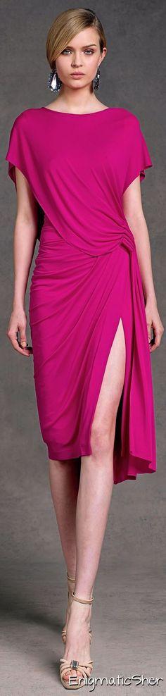 @roressclothes clothing ideas #women fashion pink dress Donna Karan Pre Spring 2013:
