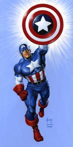 Captain America Corner Box by Joe Jusko Comic Art