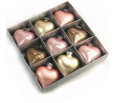Sia Pink Heart Christmas Ornaments £11.65 #bijouxbeads #Sia #decorations #christmas #heart #baubles