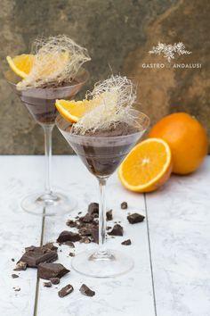 Mousse de Chocolate negro con naranja